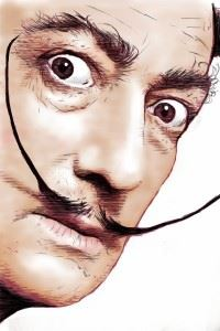 Moustache artist Salvador Dali Catalonia artist