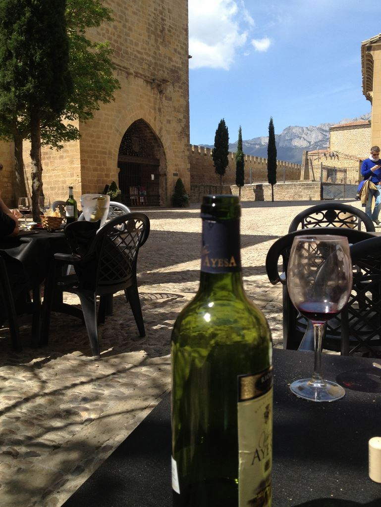 Laguardia Abbot's Tower Rioja Alavesa lunch