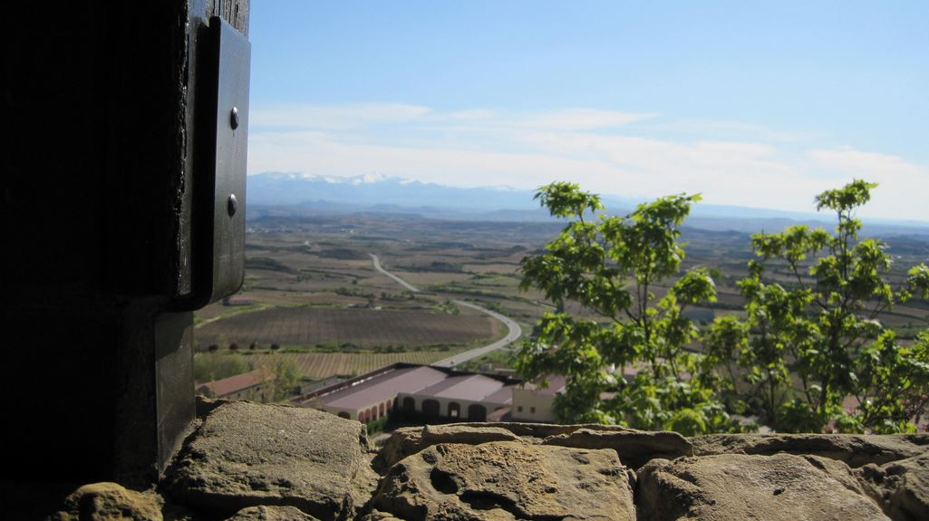 Views valleys mountains Laguardia Rioja Alavesa