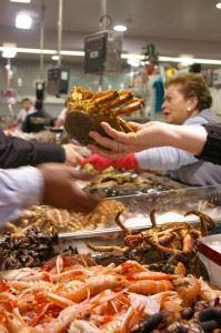 John Barlow A Coruña mercado pescado