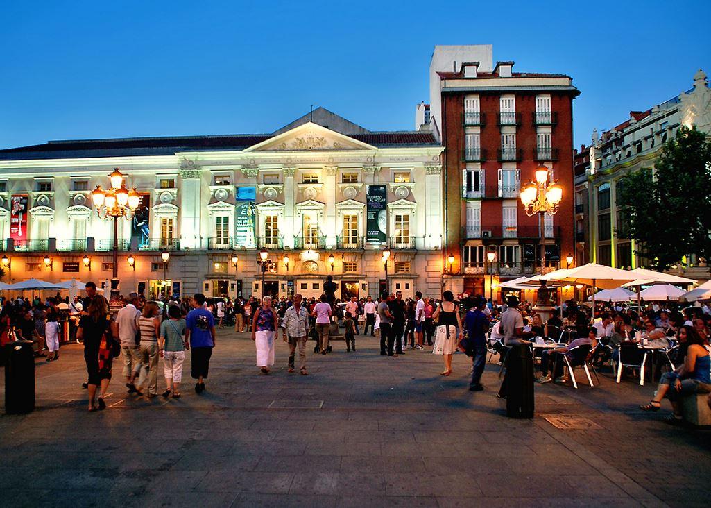 Madrid summer heat outdoor eating drinks 2013