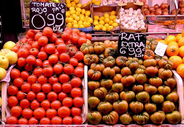 seasonal vegetables in Spain