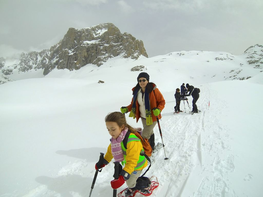 Totally Spain Picos de Europa snowshoe hike children mountains