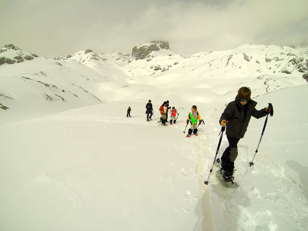 Totally Spain Picos de Europa snow shoe hike Fuente De
