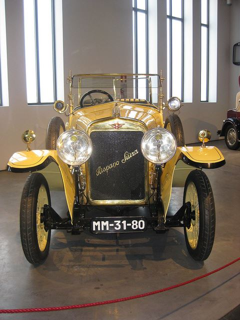 Totally Spain stork Hispano Suiza vintage classic car museums Malaga Spain car museums in Spain