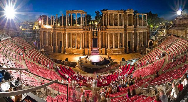 Merida open-air theatre festival spain