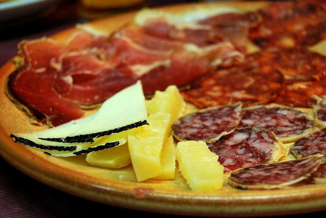 chorizo jamon salchicon queso manchego cheese cured meats Spain Sharing food in Spain