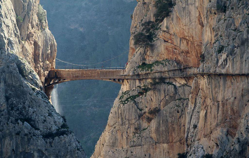 best bridges Spain Caminito del Rey Malaga walking route bridges in Spain