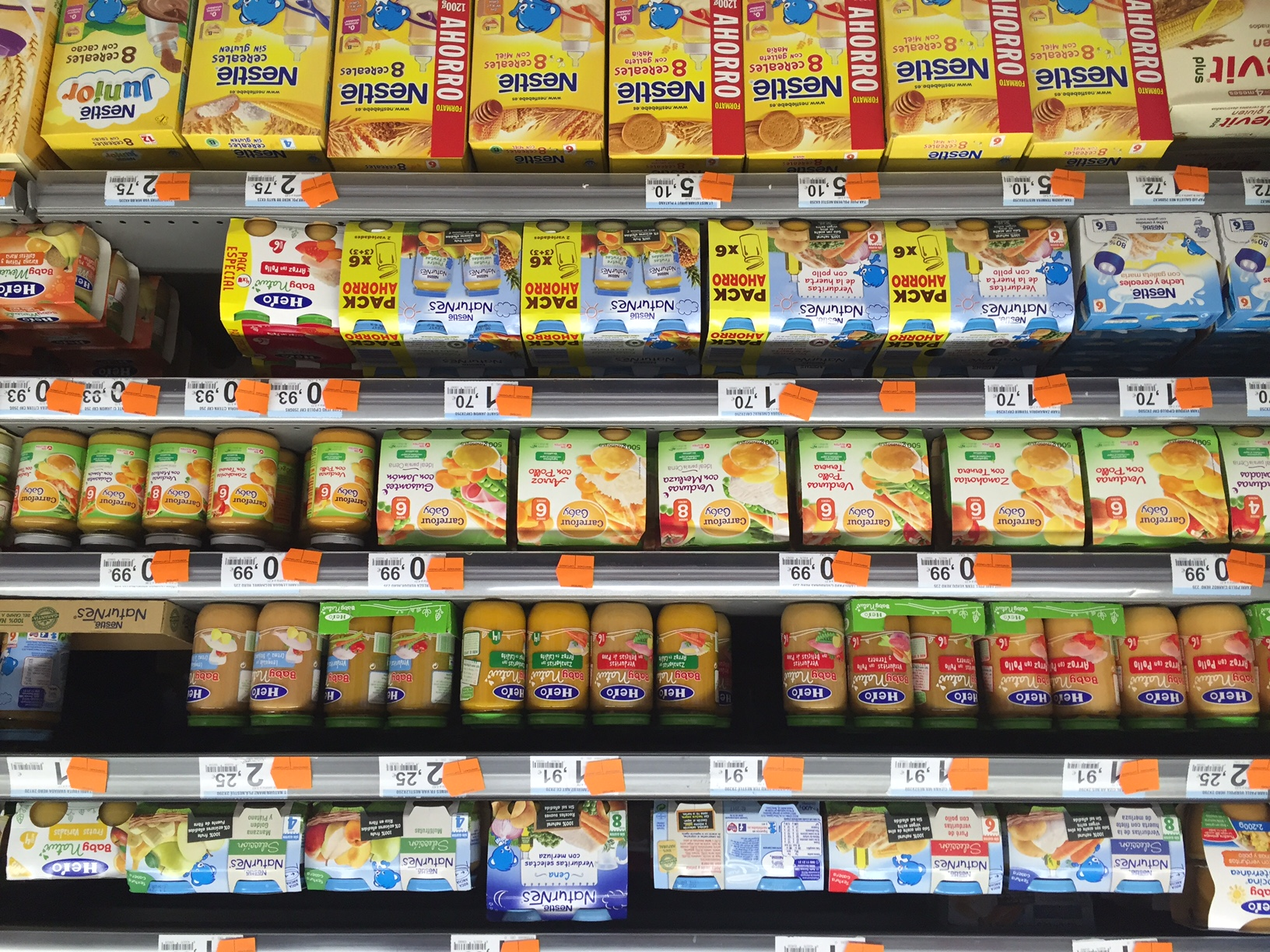 Baby Food In Spanish Supermarkets