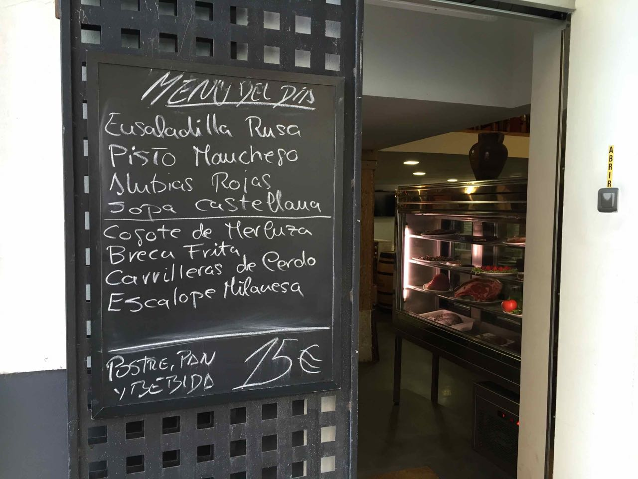 set-price meals in Spain
