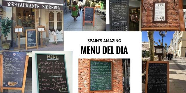 menu del dia in Spain