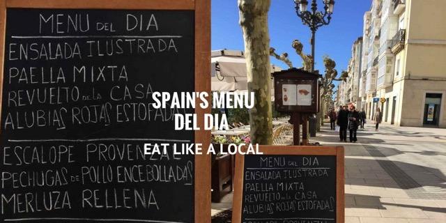 menu del dia Spain