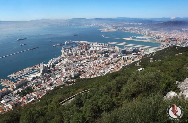 Gibraltar and Tangiers from Spain