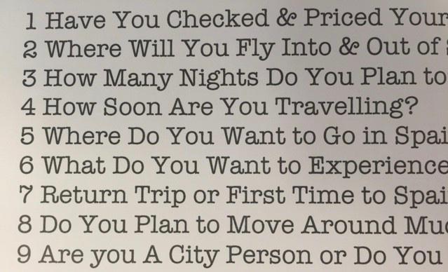 Spain trip quote specialist