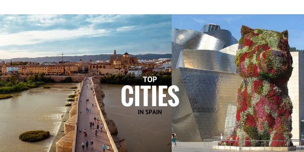 top places towns cities Bilbao Madrid Seville Cordoba Barcelona Malaga