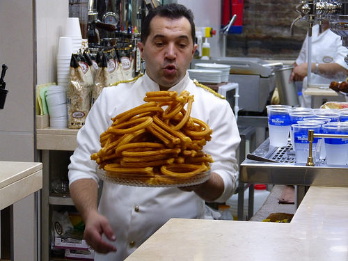 churros hot chocolate Spain San Gines churreria Valor 10 Unmissable Dishes in Spain