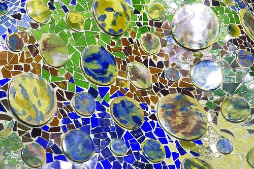 architecture trencadis mosaics Gaudi Barcelona Catalonia Spain