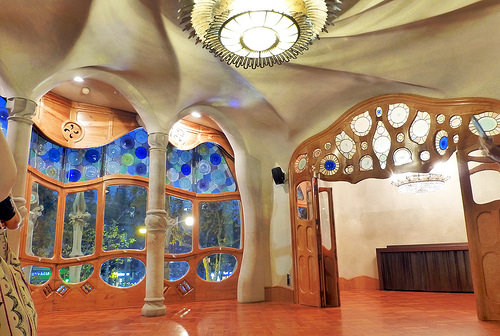 Gaudi architecture residence Barcelona Catalonia Spain
