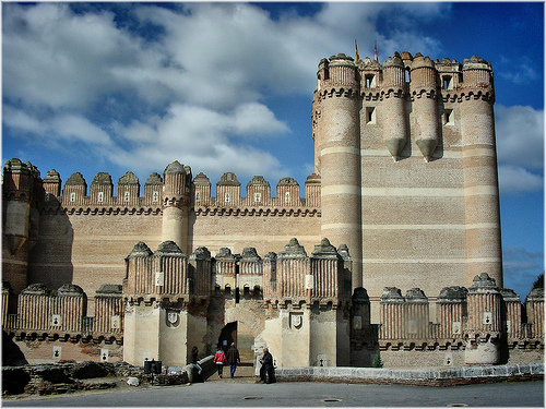 alcazar castle spain spanish castile castilla coca