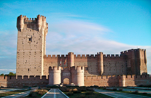 alcazar castle spain spanish castile castilla mota medina del campo