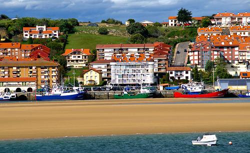 beach camino port boat port castle