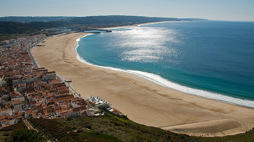 coastline sand village views lighthouse Portugal Costa Prata