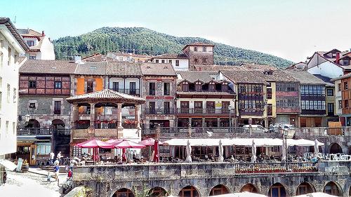 potes market town Liebena Picos de Europa Spain