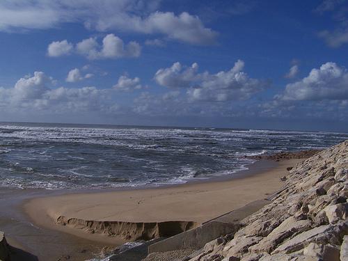 beach shore waves coastline Portugal