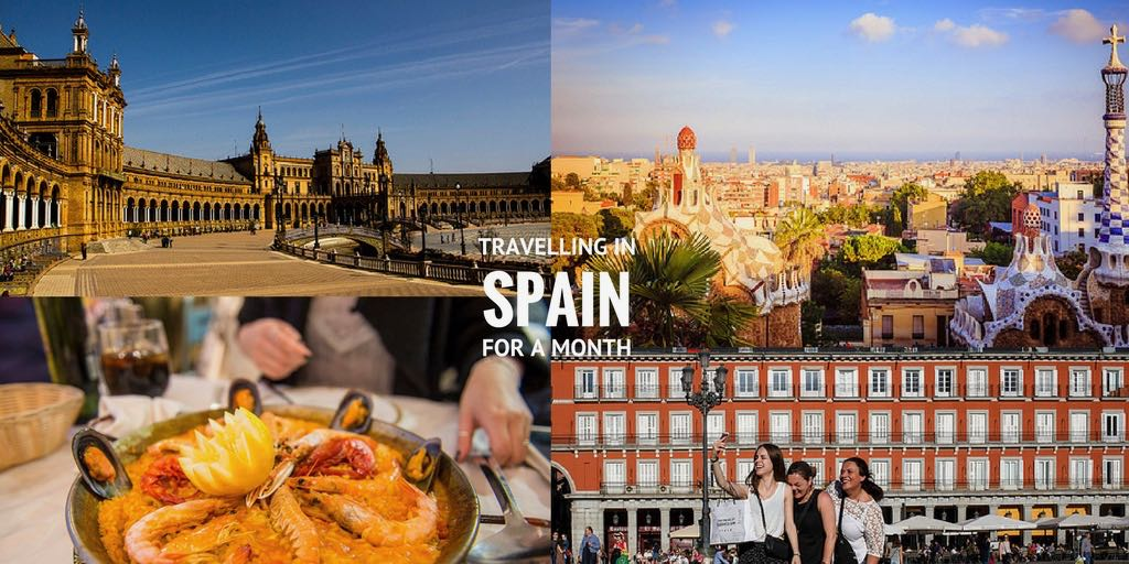 travelling spain for a month