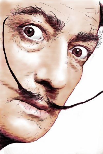 Moustache artist Salvador Dali Catalonia artist