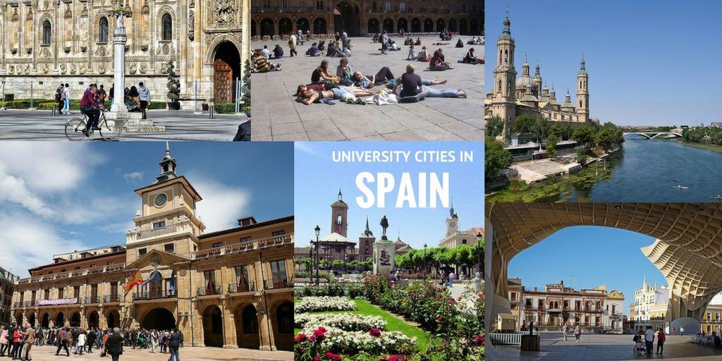 university cities in Spain